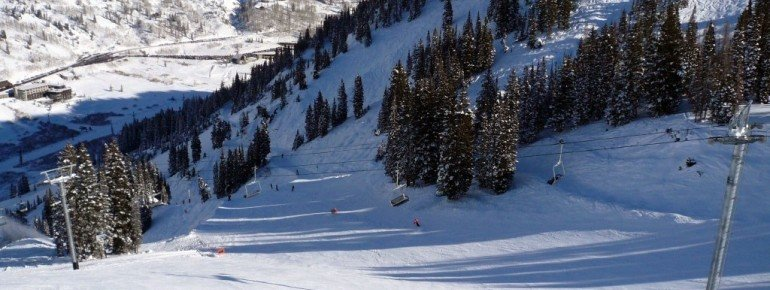 """View of the intermediate terrain at the """"Collins lift"""""""