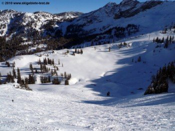 """off-piste at the """"Sugarloaf"""" mountain station"""