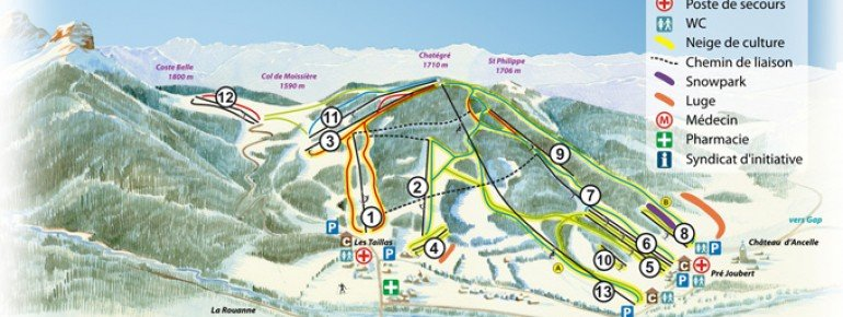 Trail Map Ancelle