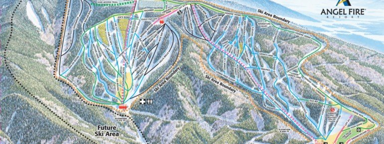 Trail Map Angel Fire Resort
