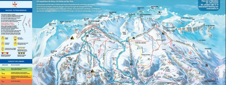 Trail Map Anzere