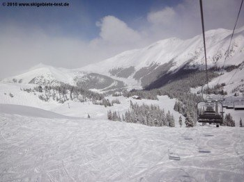 Beautiful view from Lenawee Mountain Lift over Arapahoe Basin.