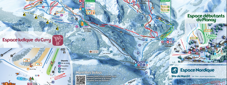Trail Map Areches Beaufort