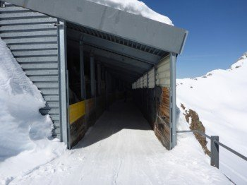 Ski Tunnel at the summit Rothorn