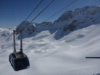 The gondola Urdenbahn is at the heart of the ski resort.