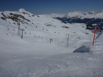 Slope No. 2 on the mountain Hörnli in Arosa