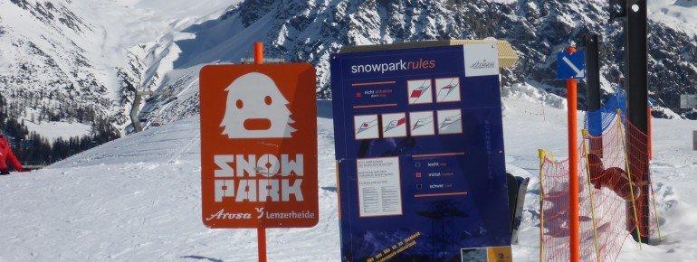 Terrain park Arosa: Safety First!