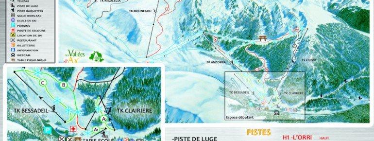 Trail Map Ascou Pailheres