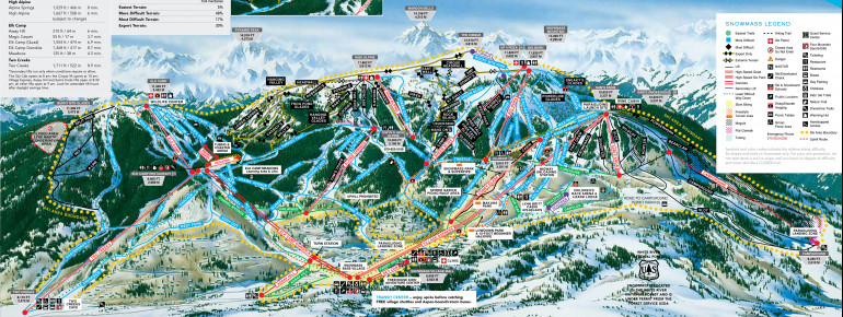 Trail Map Aspen Snowmass