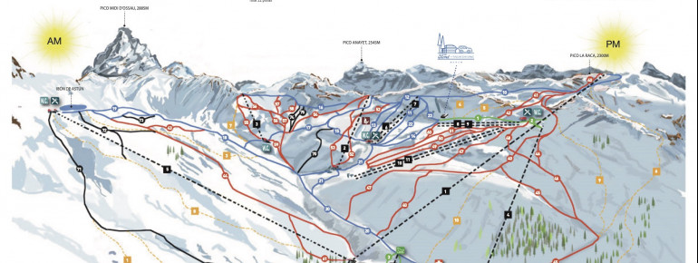 Trail map Astun