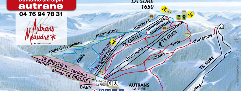 Trail Map Autrans