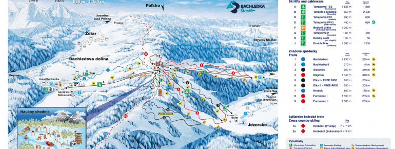 Trail Map Bachledka Ski and Sun
