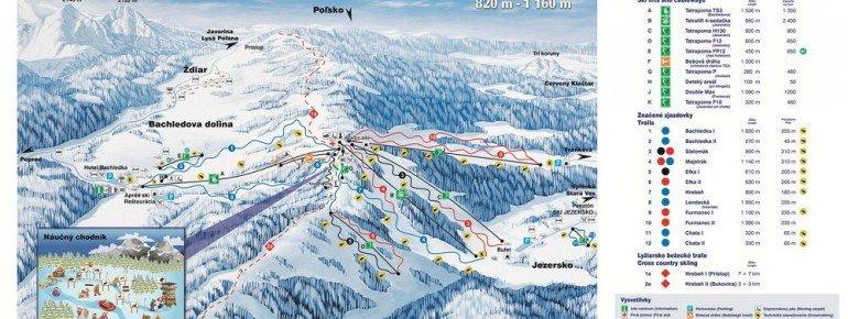 Trail Map Bachledova Dolina