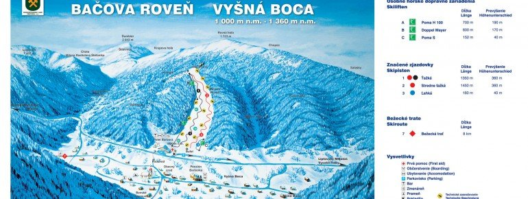 Trail Map Bacova Roven