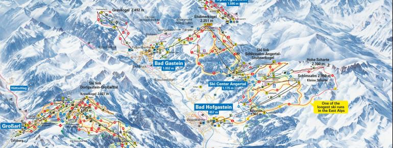 Trail Map Bad Gastein - Bad Hofgastein