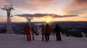 Mt. Baldy is one of the highest ski resorts in British Columbia.