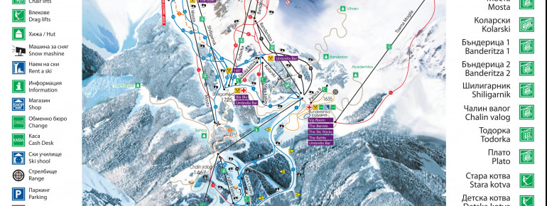 Trail Map Bansko