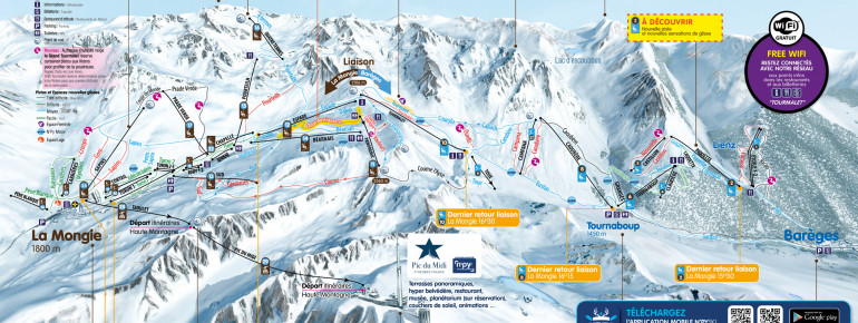 Trail Map Grand Tourmalet (Bareges - La Mongie)