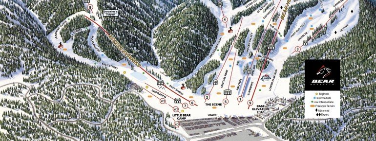 Trail Map Bear Mountain Resort