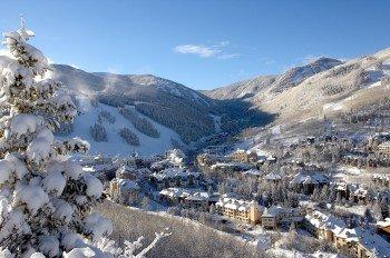 Enjoy the snow-covered Beaver Creek ski resort.