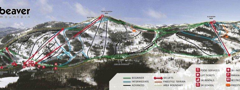Trail Map Beaver Mountain Ski Area