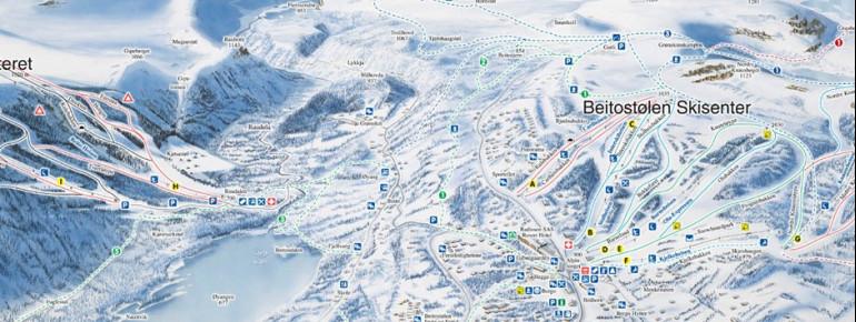 Trail Map Beitostolen