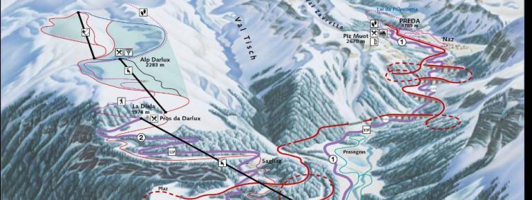 Trail Map Bergün Filisur