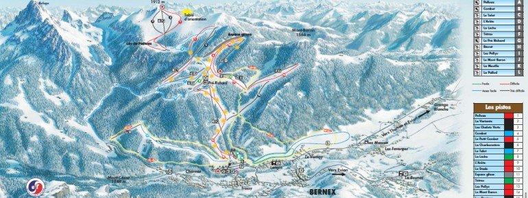 Trail Map Bernex Dent d Oche