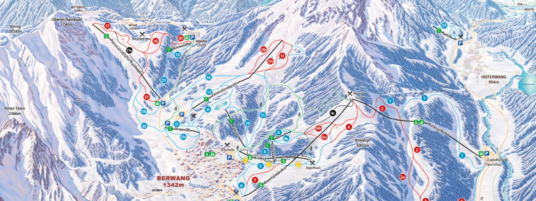 Trail Map Berwang - Bichlbach