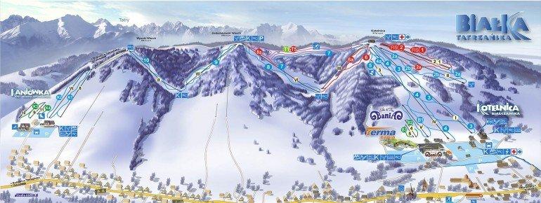 Trail Map Bialka Tatrzanska