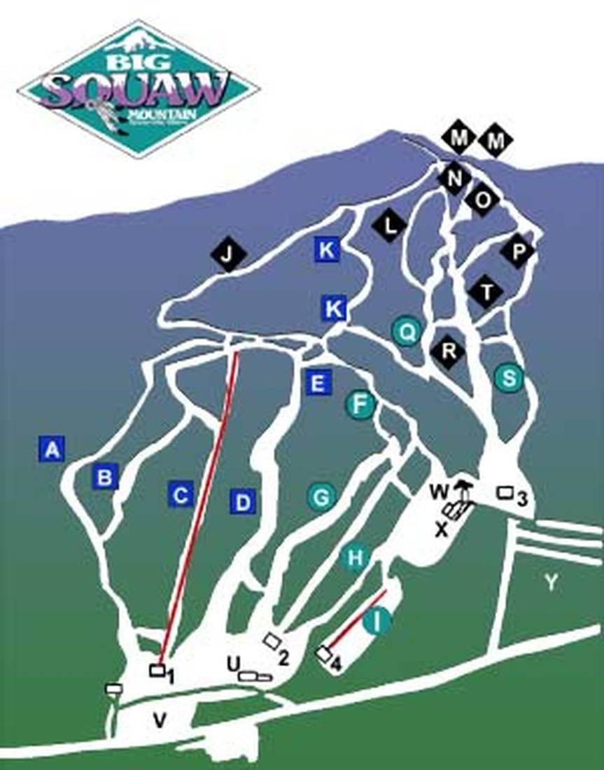 big squaw trail map • piste map • panoramic mountain map