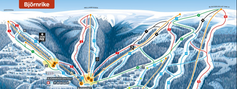 Trail Map Björnrike
