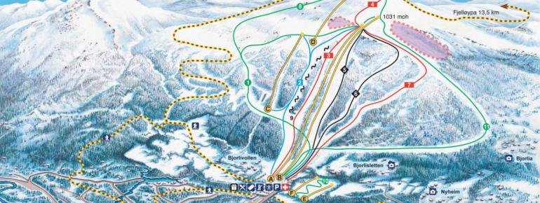 Trail Map Bjorli