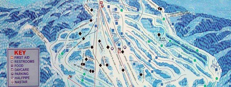 Trail Map Black Mountain NH