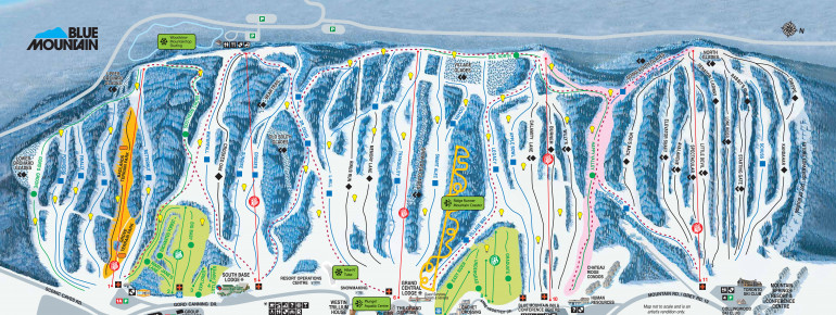Trail Map Blue Mountain Resort