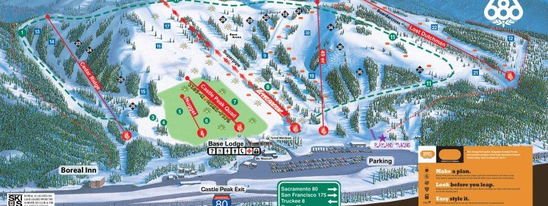 Trail Map Boreal Mountain Resort