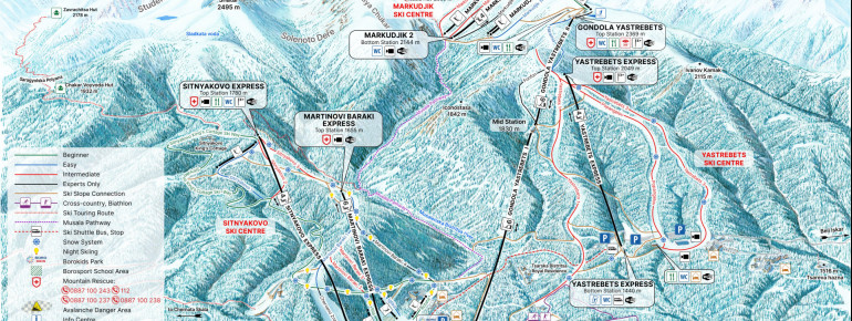 Trail Map Borovets