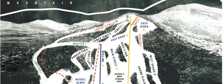 Trail Map Bousquet Ski Area