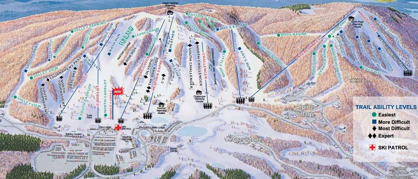 Boyne Highlands Trail Map Piste Map Panoramic Mountain Map