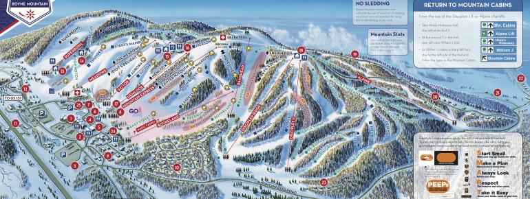 Trail Map Boyne Mountain