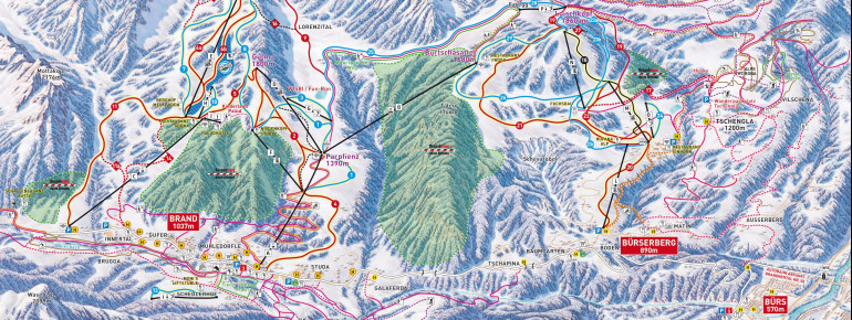 Trail Map Brandnertal