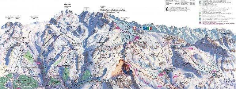 Trail Map Breuil Cervinia - Valtournenche