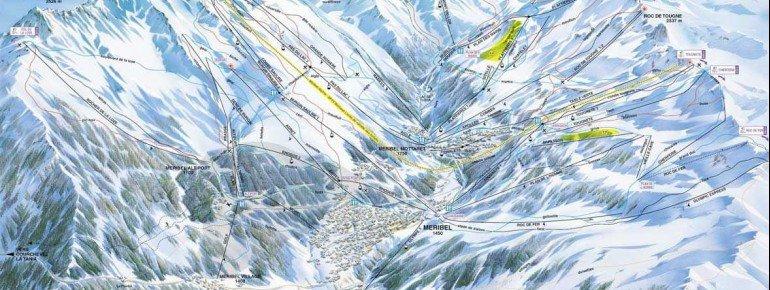 Trail Map Brides les Bains
