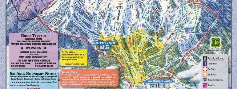 Trail Map Bridger Bowl Ski Area