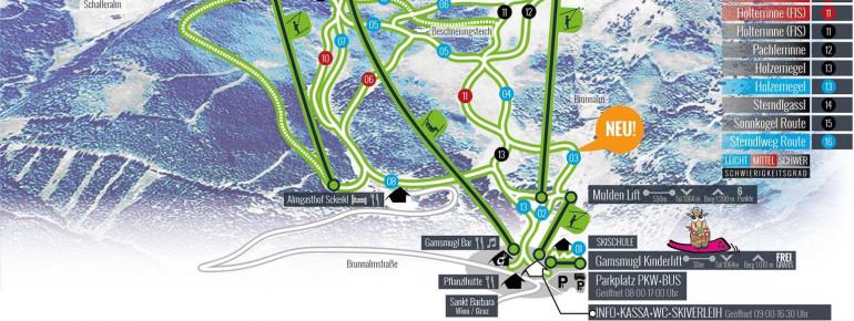 Trail Map Brunnalm Hohe Veitsch