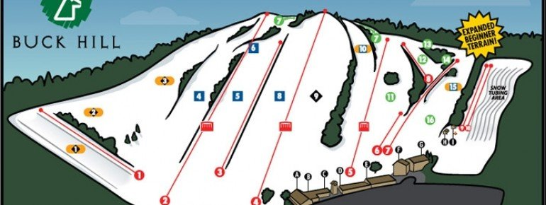 Trail Map Buck Hill Ski Area