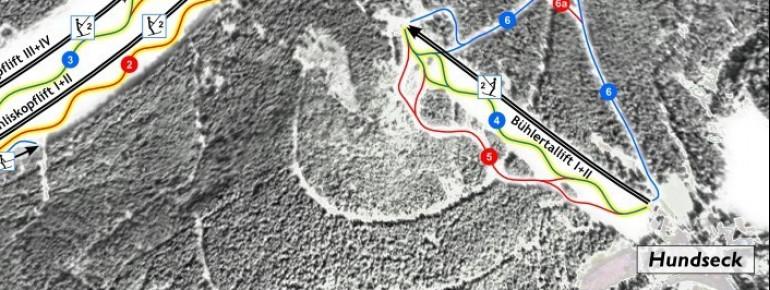 Trail Map Bühlertallift Hundseck