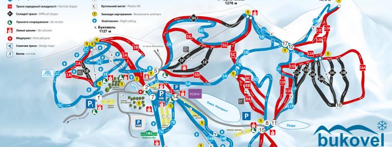 Trail Map Bukovel