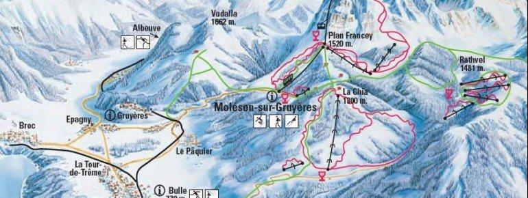 Trail Map Bulle La Chia