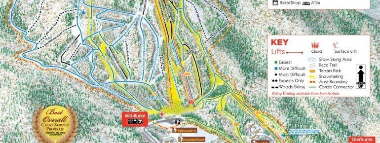Trail Map Burke Mountain